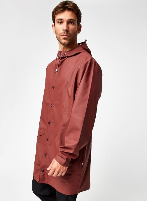 Kleding Rains  Long Jacket Bruin rechts