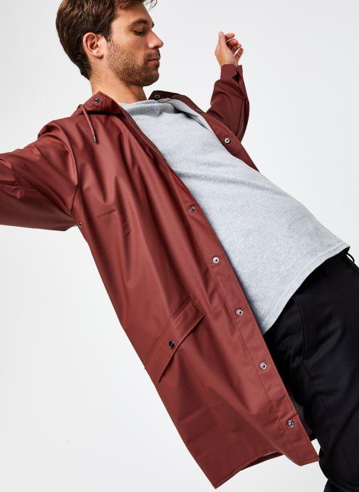 Kleding Rains  Long Jacket Bruin detail
