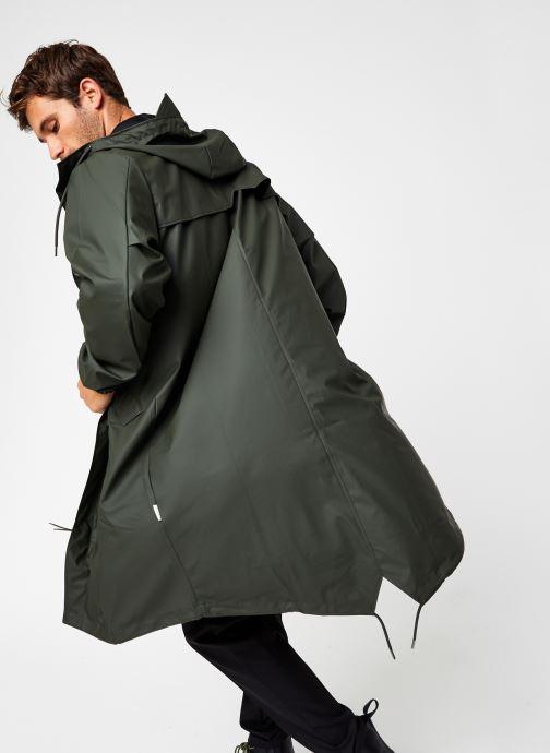 Vêtements Rains  Fishtail Parka Vert vue détail/paire