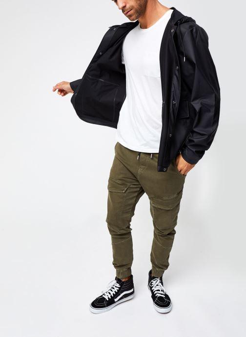 Vêtements Rains  Short Hooded Coat Noir vue bas / vue portée sac