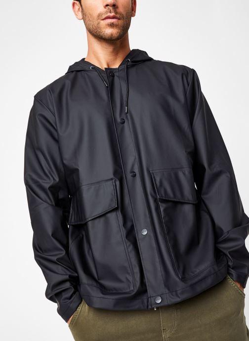 Vêtements Rains  Short Hooded Coat Noir vue droite