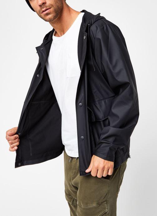 Vêtements Rains  Short Hooded Coat Noir vue détail/paire