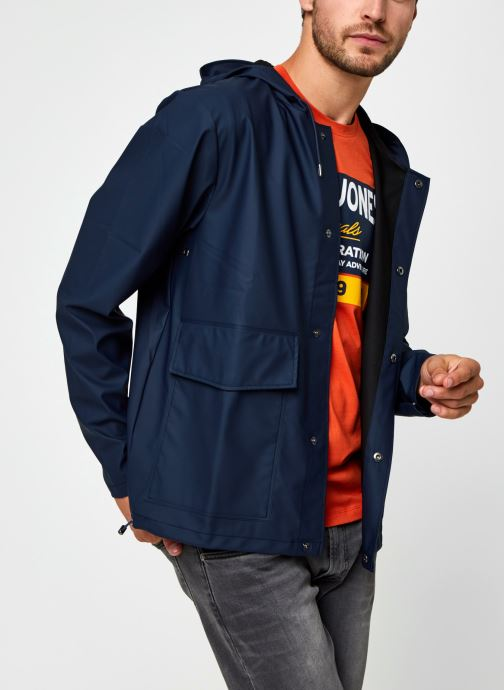 Ropa Rains  Short Hooded Coat Azul vista de detalle / par