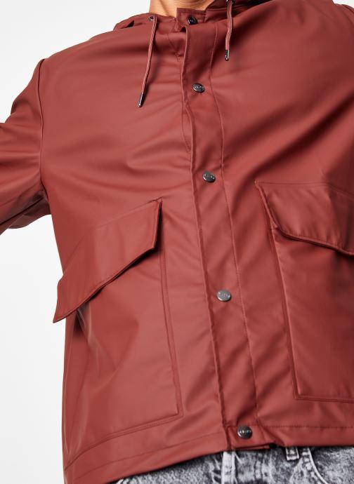 Vêtements Rains  Short Hooded Coat Marron vue face