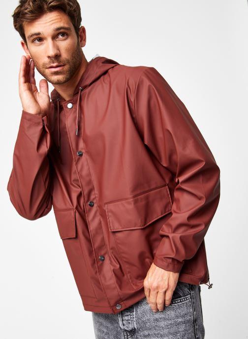 Vêtements Rains  Short Hooded Coat Marron vue droite