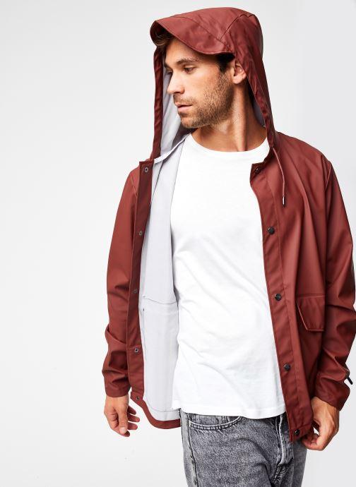 Vêtements Rains  Short Hooded Coat Marron vue détail/paire