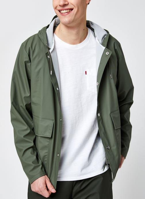Vêtements Rains  Short Hooded Coat Vert vue détail/paire