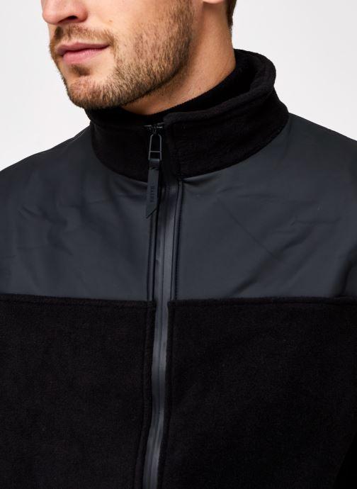 Vêtements Rains  Fleece Zip Puller Noir vue face