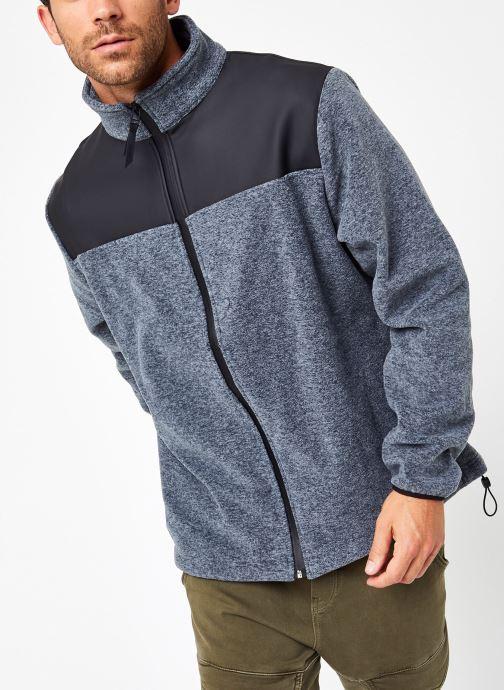 Vêtements Rains  Fleece Zip Puller Gris vue droite