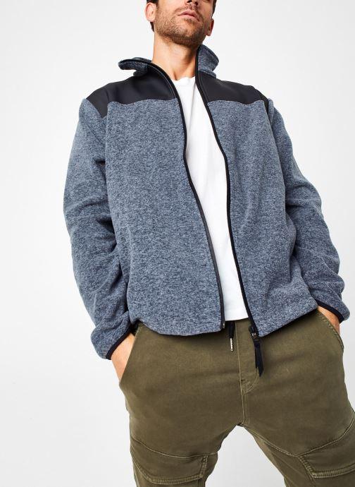 Vêtements Rains  Fleece Zip Puller Gris vue détail/paire