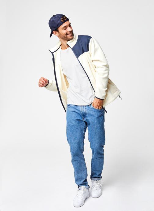 Vêtements Rains  Fleece Zip Puller Blanc vue bas / vue portée sac