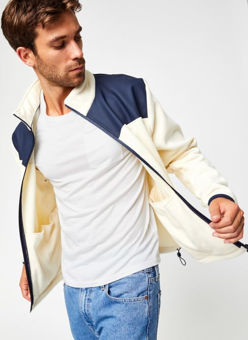 Vêtements Rains  Fleece Zip Puller Blanc vue détail/paire
