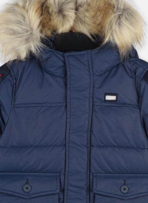 Vêtements Tommy Hilfiger Arctic Tape Parka Bleu vue face