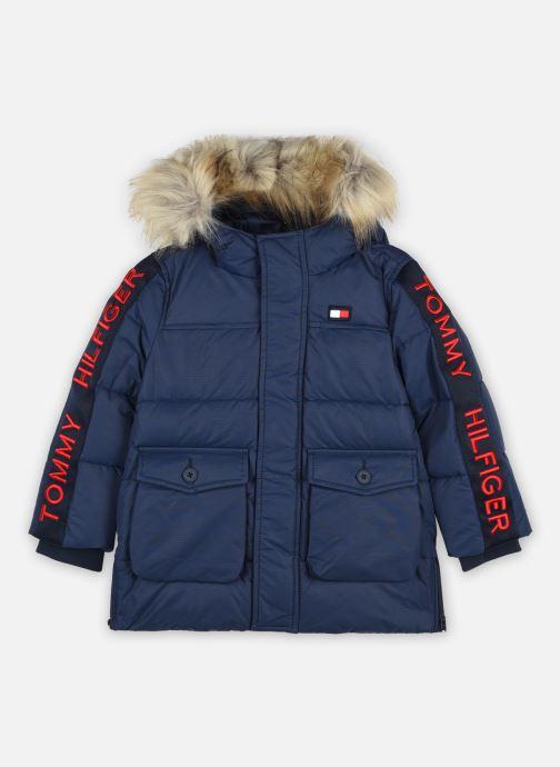 Vêtements Tommy Hilfiger Arctic Tape Parka Bleu vue détail/paire