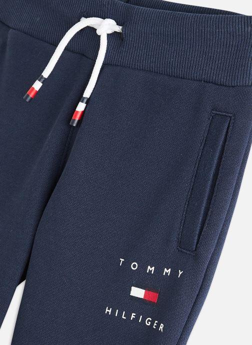 Vêtements Tommy Hilfiger Th Logo Sweatpants Bleu vue portées chaussures