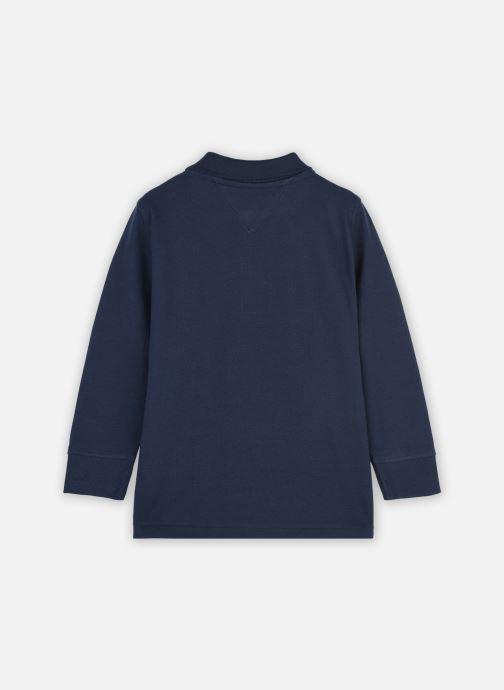 Vêtements Tommy Hilfiger Essential Established Polo L/S Bleu vue portées chaussures