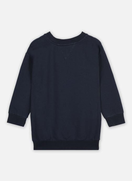 Vêtements Tommy Hilfiger Essential Sweat Dress L/S Bleu vue portées chaussures