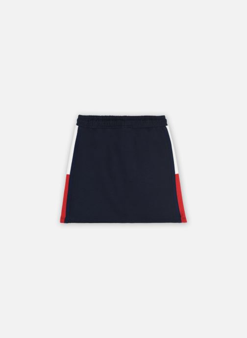 Vêtements Tommy Hilfiger Rib Insert Skirt Bleu vue portées chaussures