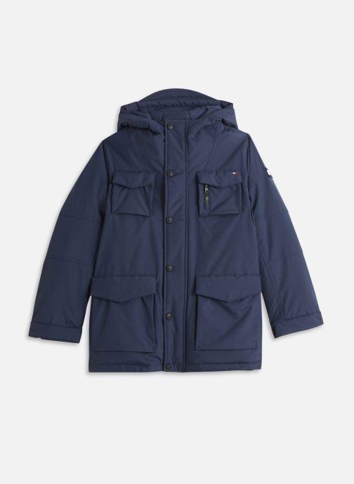 Vêtements Tommy Hilfiger Tech Parka Bleu vue détail/paire