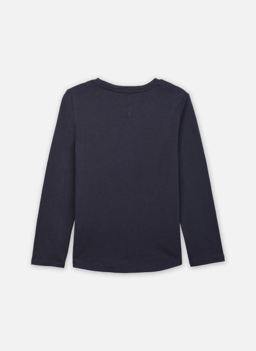 Vêtements Tommy Hilfiger Essential Tee L/S Bleu vue portées chaussures