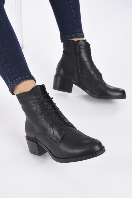 Bottines et boots Georgia Rose Maelys Noir vue bas / vue portée sac