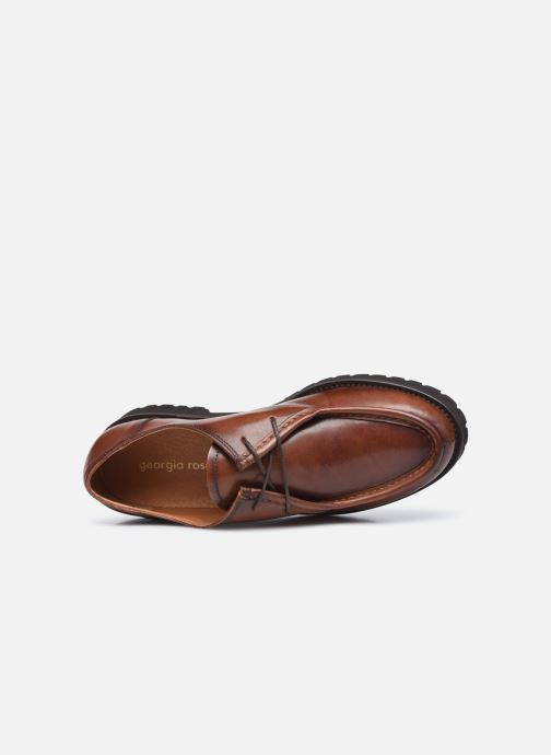 Chaussures à lacets Georgia Rose Maude Marron vue gauche