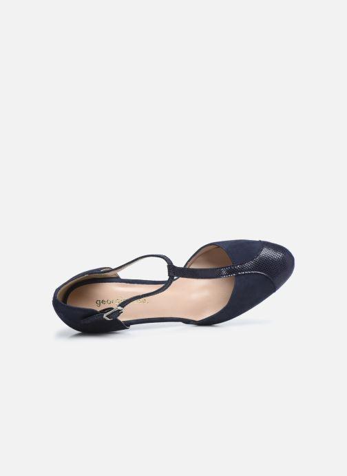 Zapatos de tacón Georgia Rose Sao Azul vista lateral izquierda