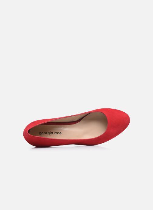 Zapatos de tacón Georgia Rose Safia Rojo vista lateral izquierda