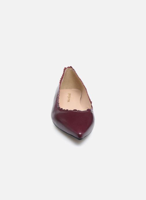 Ballerines Georgia Rose Seraphie Bordeaux vue portées chaussures