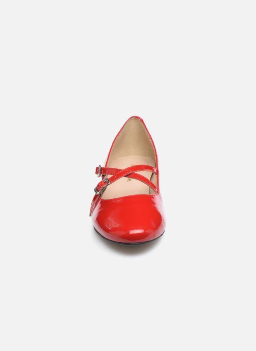 Ballerines Georgia Rose Selena Rouge vue portées chaussures