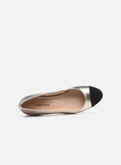 Zapatos de tacón Georgia Rose Selly Oro y bronce vista lateral izquierda