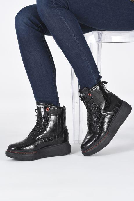 Bottines et boots Chattawak HONOLULU Noir vue bas / vue portée sac