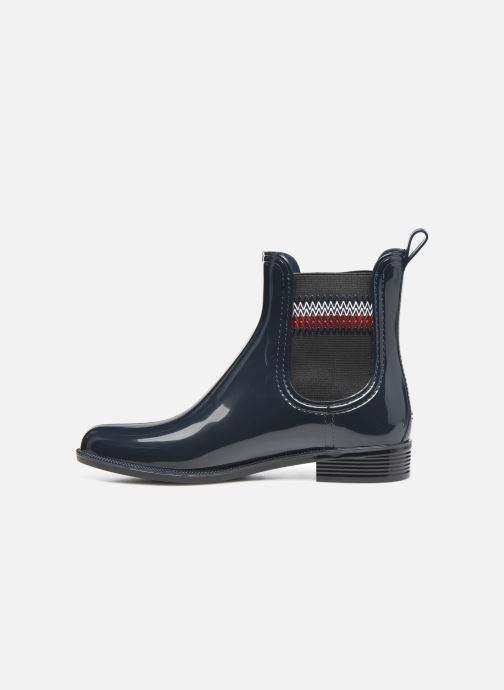 Botines  Tommy Hilfiger CORPORATE ELASTIC RAINBOOT Azul vista de frente
