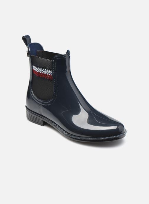 Bottines et boots Tommy Hilfiger CORPORATE ELASTIC RAINBOOT Bleu vue détail/paire