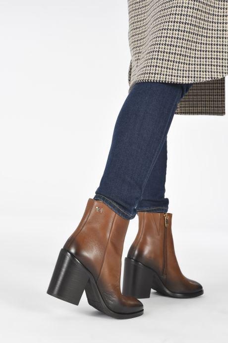 Boots en enkellaarsjes Tommy Hilfiger SHADED LEATHER HIGH HEEL BOOT Bruin onder