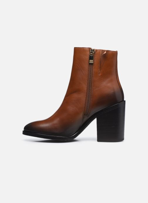 Boots en enkellaarsjes Tommy Hilfiger SHADED LEATHER HIGH HEEL BOOT Bruin voorkant