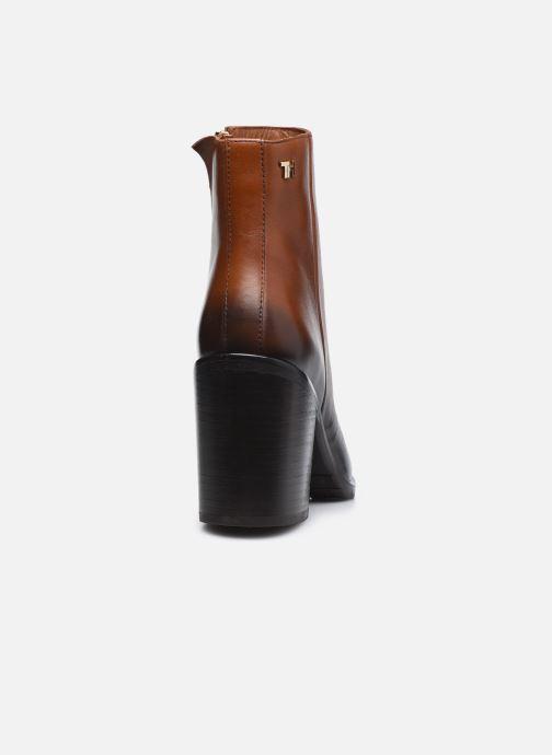 Boots en enkellaarsjes Tommy Hilfiger SHADED LEATHER HIGH HEEL BOOT Bruin rechts