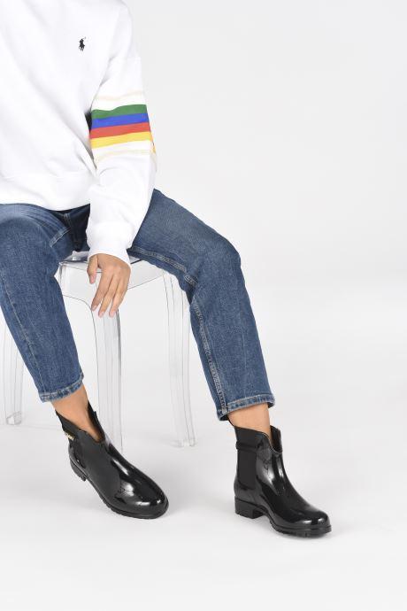 Bottines et boots Tommy Hilfiger BLOCK BRANDING RAINBOOT Noir vue bas / vue portée sac