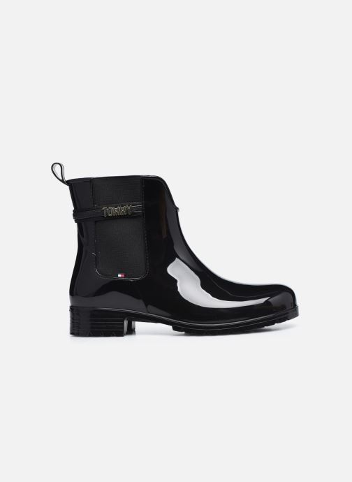 Bottines et boots Tommy Hilfiger BLOCK BRANDING RAINBOOT Noir vue derrière