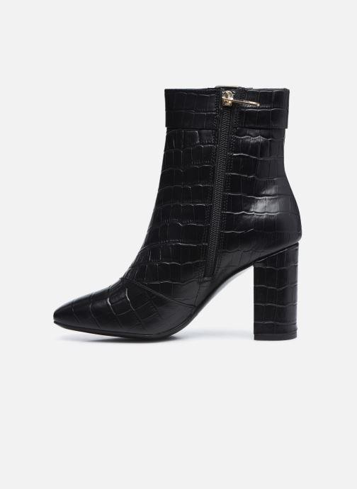 Boots en enkellaarsjes Tommy Hilfiger CROCO LOOK HIGH HEEL BOOT Zwart voorkant