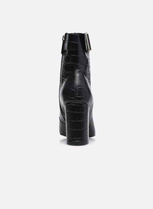 Boots en enkellaarsjes Tommy Hilfiger CROCO LOOK HIGH HEEL BOOT Zwart rechts