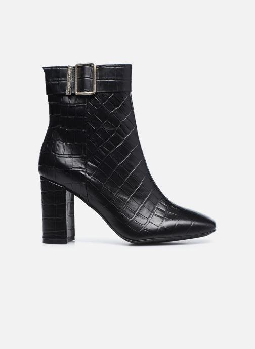 Boots en enkellaarsjes Tommy Hilfiger CROCO LOOK HIGH HEEL BOOT Zwart achterkant