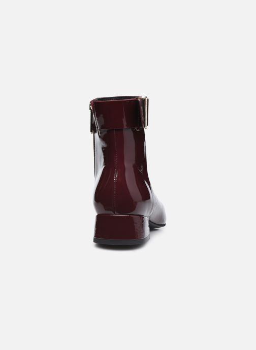 Boots en enkellaarsjes Tommy Hilfiger PATENT SQUARE TOE MID HEEL BOOT Bordeaux rechts