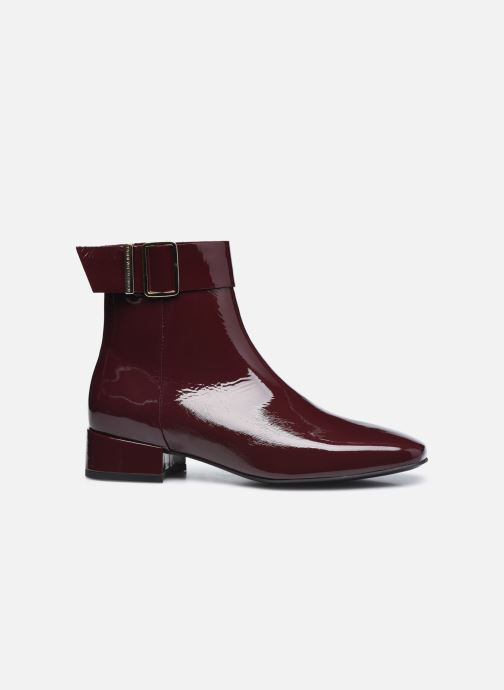 Boots en enkellaarsjes Tommy Hilfiger PATENT SQUARE TOE MID HEEL BOOT Bordeaux achterkant