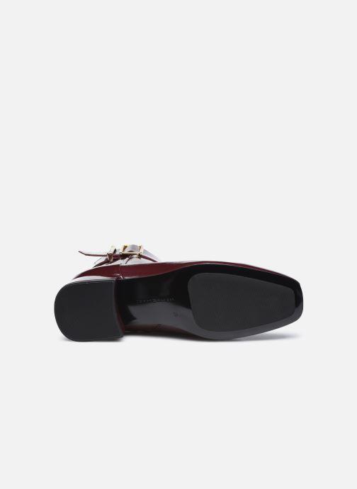 Boots en enkellaarsjes Tommy Hilfiger PATENT SQUARE TOE MID HEEL BOOT Bordeaux boven