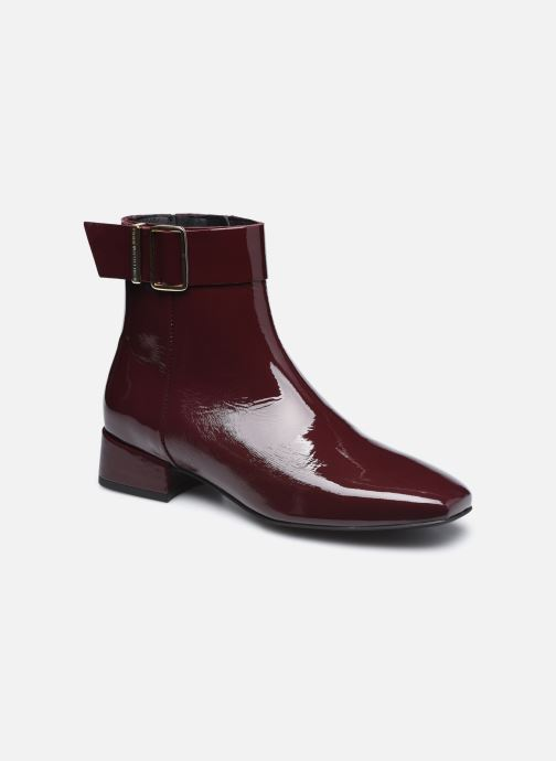 Boots en enkellaarsjes Tommy Hilfiger PATENT SQUARE TOE MID HEEL BOOT Bordeaux detail