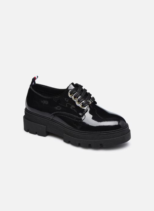 Snøresko Tommy Hilfiger RUGGED CLASSIC PATENT SHOE Sort detaljeret billede af skoene