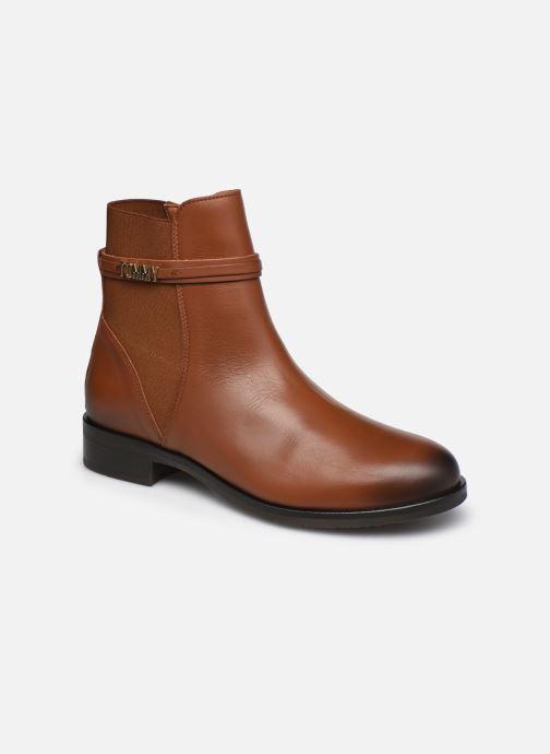 Boots en enkellaarsjes Tommy Hilfiger BLOCK BRANDING FLAT BOOT Bruin detail