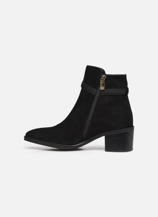 Boots en enkellaarsjes Tommy Hilfiger BLOCK BRANDING SUEDE MID BOOT Zwart voorkant