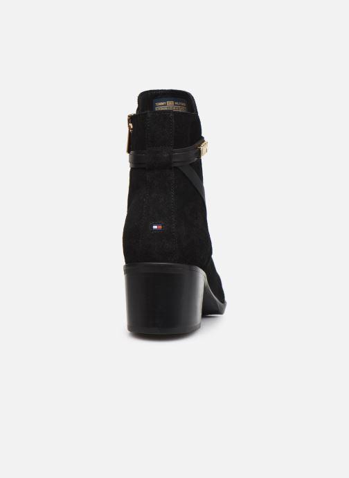 Boots en enkellaarsjes Tommy Hilfiger BLOCK BRANDING SUEDE MID BOOT Zwart rechts